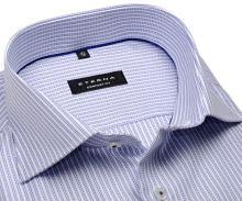 Koszula Eterna Comfort Fit Twill – ekskluzywna w wyszyte niebieskie prążki