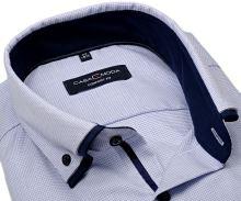 Koszula Casa Moda Comfort Fit – w jasnoniebieską krateczkę i z podwójnym kołnierzem - super długi rękaw