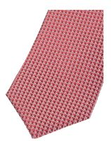 Krawat slim Olymp – czerwony z tkanym wzorem