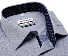 Koszula Marvelis Comfort Fit – niebieska z białym wzorom i wewnętrzną stójką