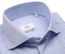 Koszula Eterna 1863 Modern Fit Two Ply NEVER IRON - luksusowa z młodzieńczym niebieskim wzorem