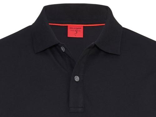 Koszulka polo body fit Olymp Level Five z kołnierzykiem - czarna