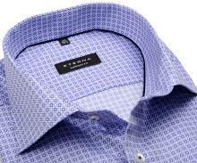 Koszula Eterna Comfort Fit - z niebiesko-białym nadrukowanym wzorem