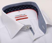 Koszula Marvelis Modern Fit – biała z stojką wewnętrzną i mankietem - extra długi rękaw