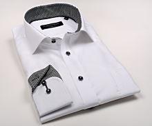 Koszula Casa Moda Modern Fit Premium – biała luksusowa ze strukturą i kołnierzykiem - super długi rękaw