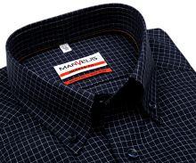 Koszula Marvelis Modern Fit – granatowa z tkaną białą krateczką