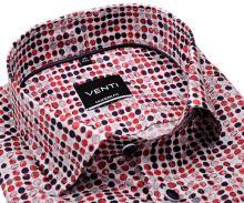 Koszula Venti Modern – w nadrukowane czerwono-niebieskie koła - super długi rękaw