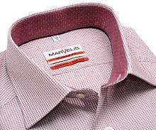 Koszula Marvelis Modern Fit - w czerwone tkane prostokąty z kołnierzykiem wewnętrznym