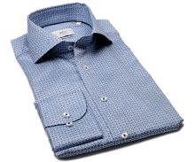 Koszula Eterna 1863 Slim Fit Two Ply - luksusowa z niebieskim wzorem