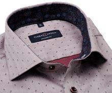 Koszula Casa Moda Modern Fit Premium – luksusowa w czerwonej jodelce z wzorem i wewnętrzną stójką