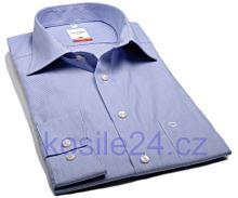 Koszula Olymp Luxor Modern Fit Mille raye - w delikatne niebieskie prążki