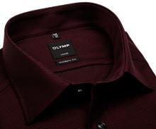Koszula Olymp Modern Fit – czerwono-czarna z wyszytym wzorem