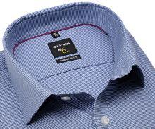 Koszula Olymp Super Slim – ciemnoniebieska z wyszytym wzorem