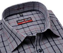 Koszula Marvelis Modern Fit – szaro-czarna w kratki - extra długi rękaw