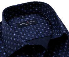 Koszula Casa Moda Modern Fit – ciemnoniebieska z niebiesko-białymi ornamentami - super długi rękaw