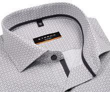 Koszula Eterna Slim Fit – biała z czarnym nadrukowanym wzorem