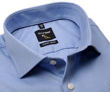 Koszula Olymp Super Slim Diamant Twill – luksusowa jasnoniebieska ze strukturą diagonalną