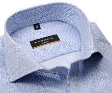 Koszula Eterna Slim Fit Twill - luksusowa z jasnoniebieskim wzorem
