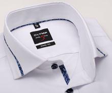 Koszula Olymp Level Five – biała z delikatną strukturą i designerskim kołnierzem