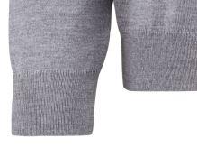 Sweter Olymp z wełny Merino - dekolt typu V - w kolorze szarym