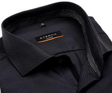 Koszula Eterna Slim Fit Twill – luksusowa antracytowa z kołnierzykiem wewnętrznym