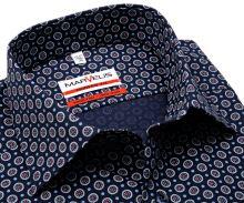 Koszula Marvelis Modern Fit - granatowa w czerwono-niebiesko-biały wzór