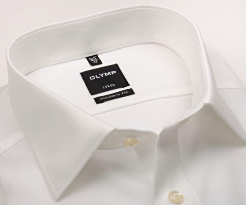 Koszula Olymp Luxor Modern Fit Uni Popeline - w kolorze champagne