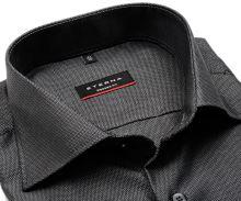 Koszula Eterna Modern Fit – z drobnym czarno-szarym wzorem - super długi rękaw