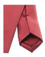 Krawat super slim Olymp – jasnoczerwony z białym wzorem