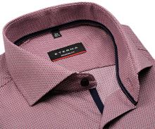 Koszula Eterna Modern Fit – z czerwono-niebiesko-białym wplecionym wzorem