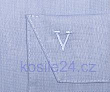Koszula Marvelis Modern Fit Chambray - jasnoniebieska - z krótkim rękawem