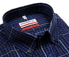 Koszula Marvelis Modern Fit – ciemnoniebieska z fioletowo-niebieskim wzorem karo