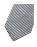 Slim kravata Olymp - světle šedá s vetkanými proužky