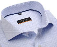 Koszula Eterna Slim Fit Twill - biała z jasnoniebieskim wzorem