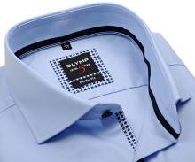 Koszula Olymp Level Five – luksusowa jasnoniebieska z strukturą i wewnętrzną plisą - extra długi rękaw
