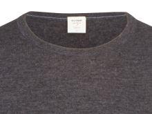 Sweter Olymp Level Five z wełny merino z domieszką jedwabiu - antracytowy - okrągły dekolt