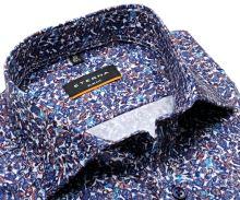 Koszula Eterna Slim Fit - z satynowym wykończeniem i wzorem paisley