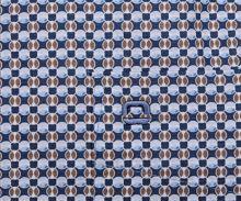 Koszula Olymp Comfort Fit – z niebiesko-beżowym wzorem - krótki rękaw