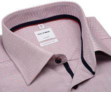 Koszula Olymp Luxor Comfort Fit – czerwono-niebieska - krótki rękaw