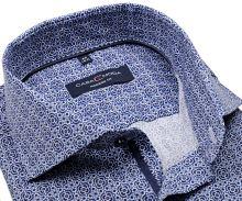 Koszula Casa Moda Modern Fit – z nadrukowanymi niebieskim ornamentami i wewnętrzną plisą