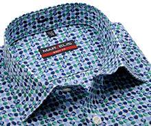 Koszula Marvelis Body Fit – disignerska w zielono-niebieskie koła - extra długi rękaw