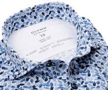 Koszula Olymp Level Five 24/Seven – luksusowa designerska elastyczna z niebieskim wzorem