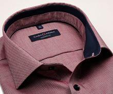 Koszula Casa Moda Modern Fit - czerwono-niebieska z wewnętrzną stójką
