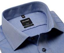 Koszula Olymp Modern Fit Twill – niebieska luksusowa i nieprześwitująca z diagonalną strukturą