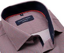 Koszula Casa Moda Modern Fit – z czerwono-niebieskim wzorem wewnętrzną stójką i mankietem