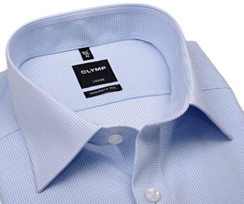 Koszula Olymp Luxor Modern Fit - w jasnoniebieską krateczkę