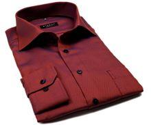 Koszula Eterna Comfort Fit – z drobnym czerwono-niebieskim wzorem - super długi rękaw
