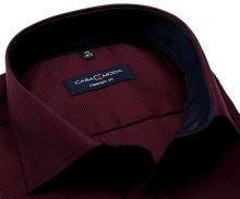 Koszula Casa Moda Comfort Fit Premium – czerwono-granatowa ze strukturą, wewnętrzną stójką i mankietem