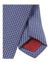 Krawat slim Olymp – ciemnoniebieski z tkanym wzorem
