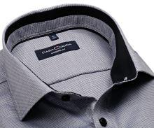 Koszula Casa Moda Modern Fit - szaro-czarna z wewnętrzną stójką